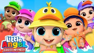 Download lagu Kemanakah Lima Bebek Kecil?🐥Kartun Anak | Little Angel Bahasa Indonesia