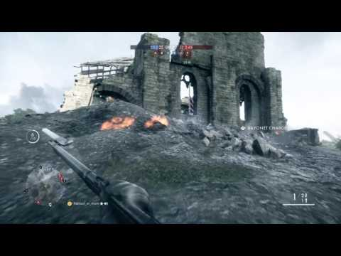 Battlefield 1: Flying in an airplane then shooting as a Scout