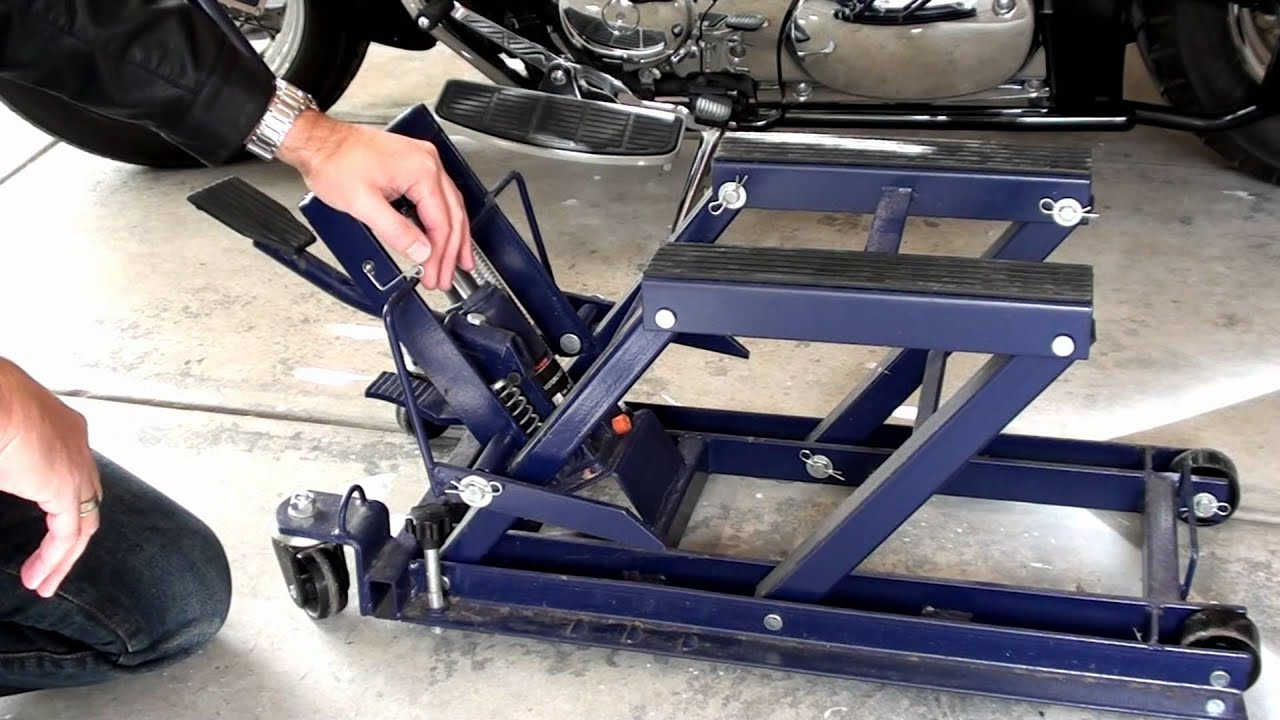 Hydraulic Motorcycle Jack Youtube