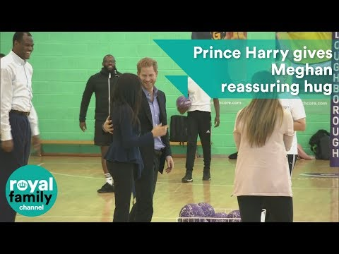 Prince Harry gives Meghan reassuring hug ahead of Coach Core Awards