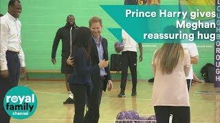 Prince Harry gives Meghan reassuring hug ahead of Coach Core Awards
