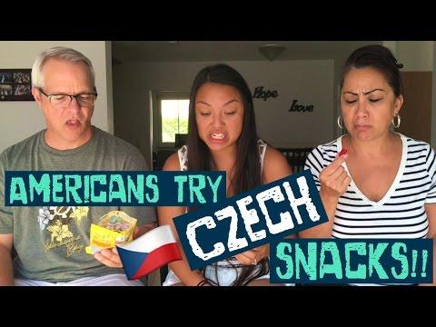 AMERICANS TRY CZECH SNACKS!! // A.T.M.