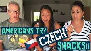 AMERICANS TRY CZECH SNACKS!! // A.T.M.