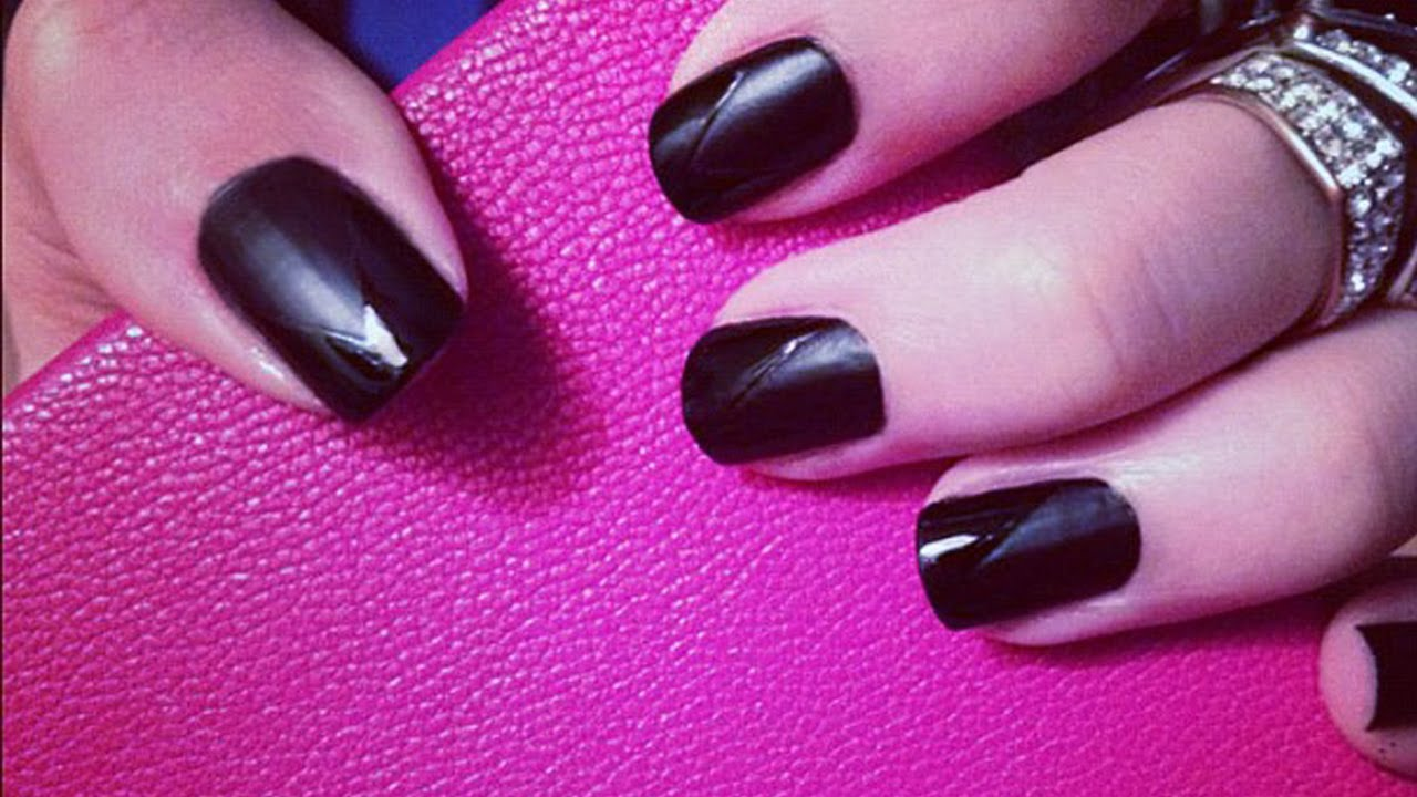 BLACK ON BLACK - Matte & Glossy Nail Tutorial | MissJessicaHarlow ...