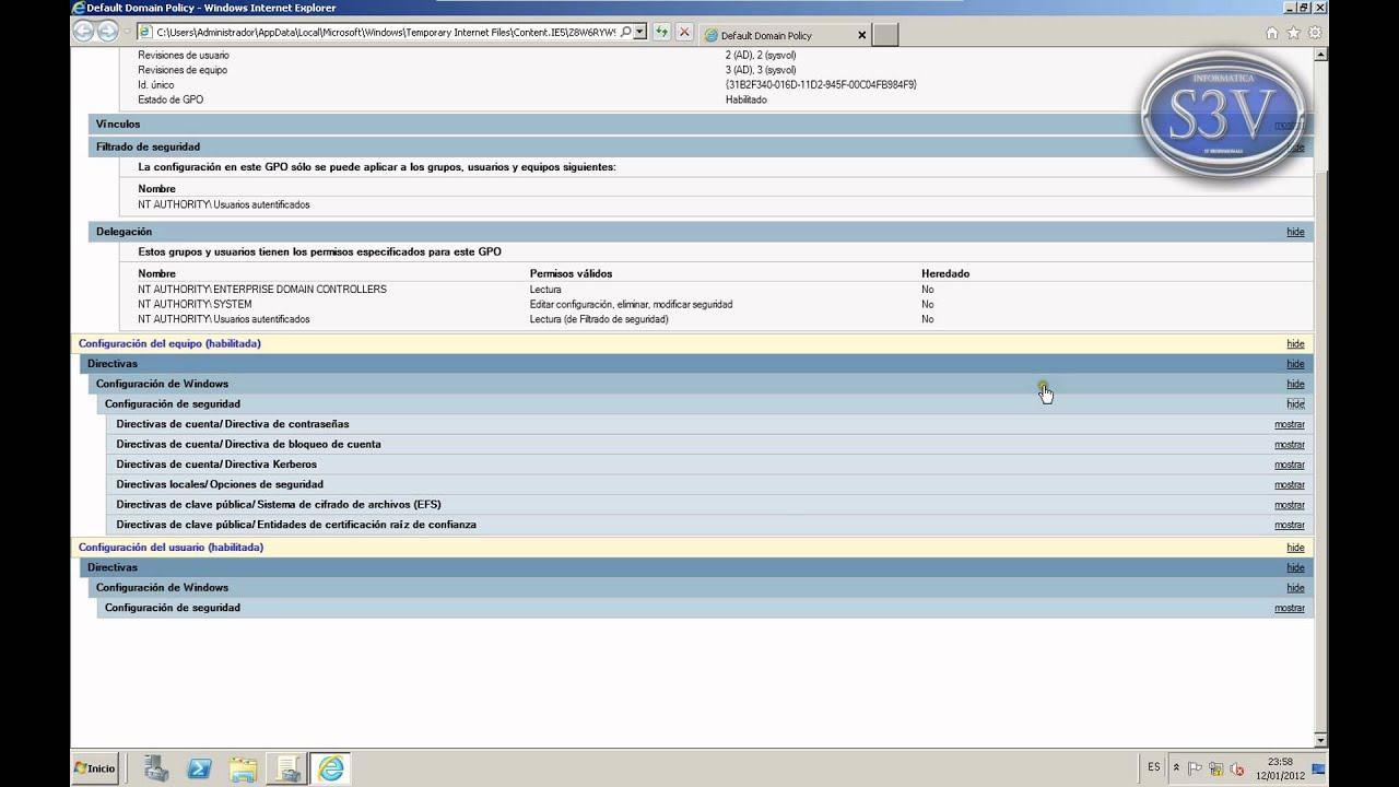 Windows Server 2008 r2 - GPOs - Importar y exportar configuraciones ...
