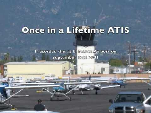 A once in a lifetime ATIS report - 9/11 2001