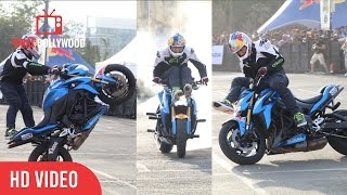 The Most Dangerous Bike Stunts Ever | Suzuki Gixxer Day | Red Bull
