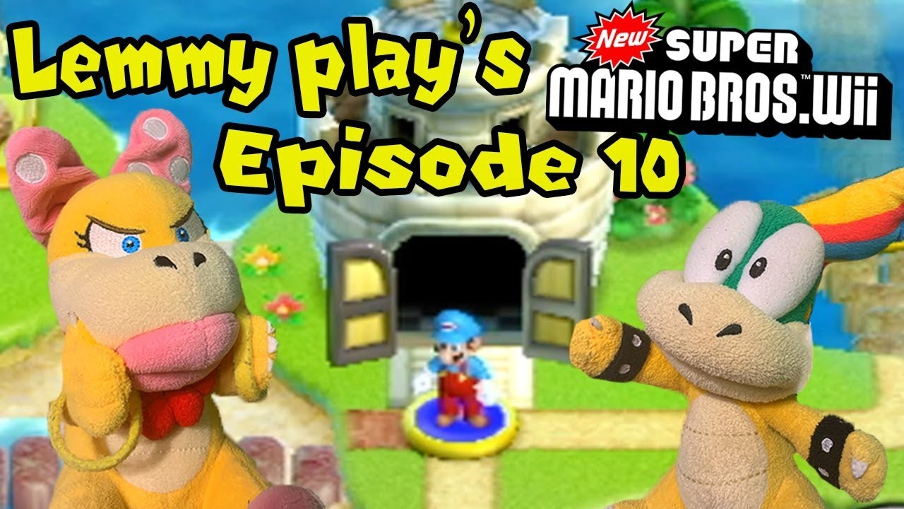 Lemmy Play S New Super Mario Bros Wii Episode 10 Youtube