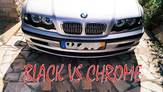 BMW black grills or chrome grills ?