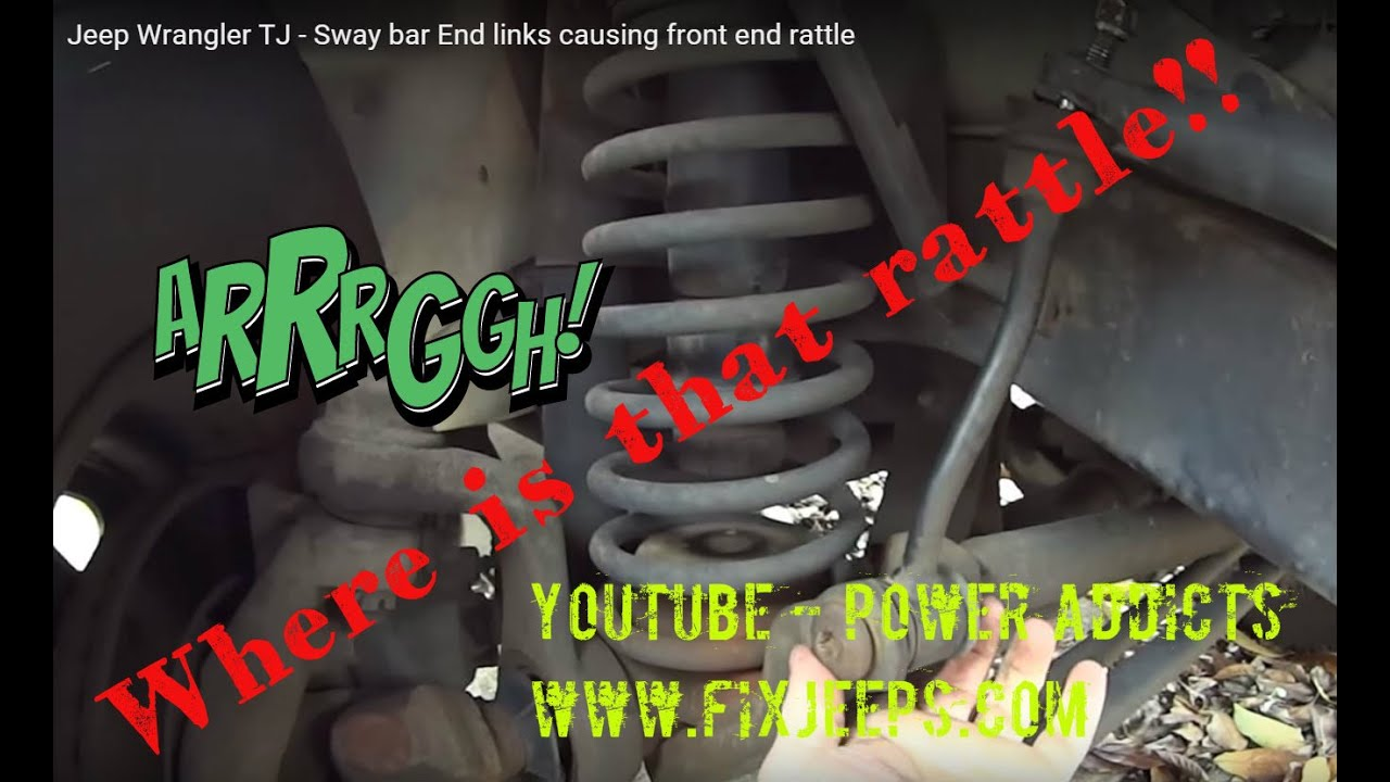 medium resolution of jeep wrangler tj sway bar end links causing front end rattle