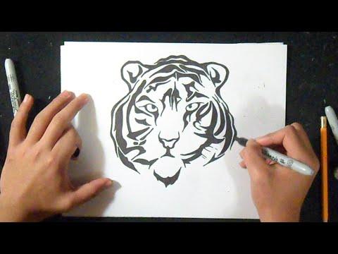 Comment dessiner un tigre youtube - Comment dessiner un tigre ...