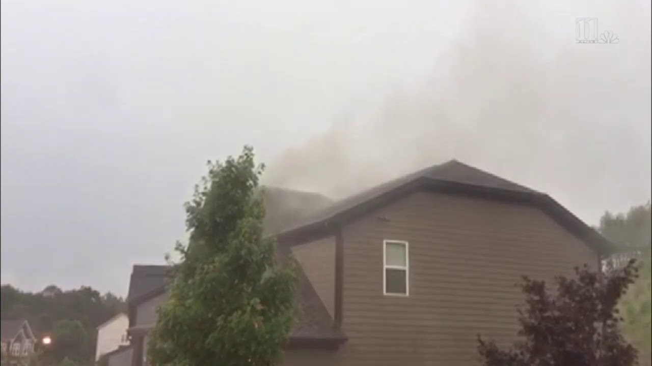 RAW VIDEO: A house in Gwinnett Co. struck by lightning early Saturday morning