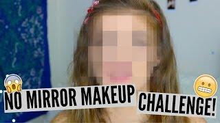No Mirror Makeup Challenge! || Lacey Jane