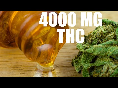 4000 MG THC!! STRONGEST CANNABIS OIL MADE WITH ROSIN PUCKS!