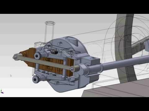 CGI 3D Slide Valve Animation for 1883 10 Hp Schleicher Schumm Flame Ignition Engine