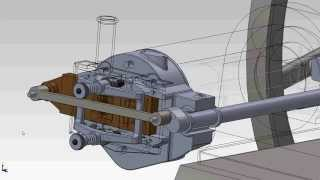 CGI 3D Slide Valve Animation for 1883 10 Hp Schleicher Schumm Flame Ignition Engine