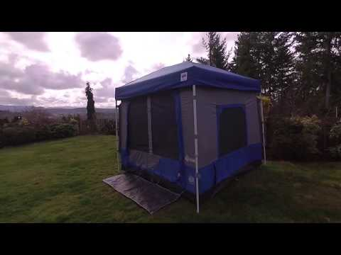 E-Z Up Camping Cube And Disc-O-Bed XL