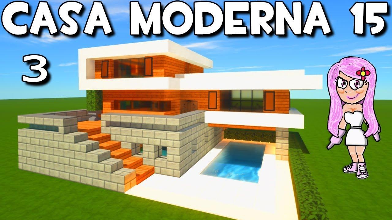 Casa moderna 15 con piscina en minecraft como hacer y for Idee regalo casa moderna