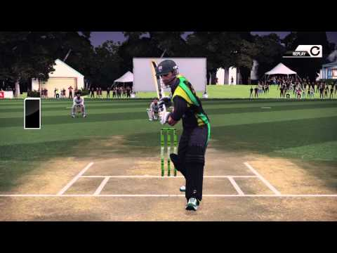 Don Bradman Cricket. First ever successful umpire challenge review.