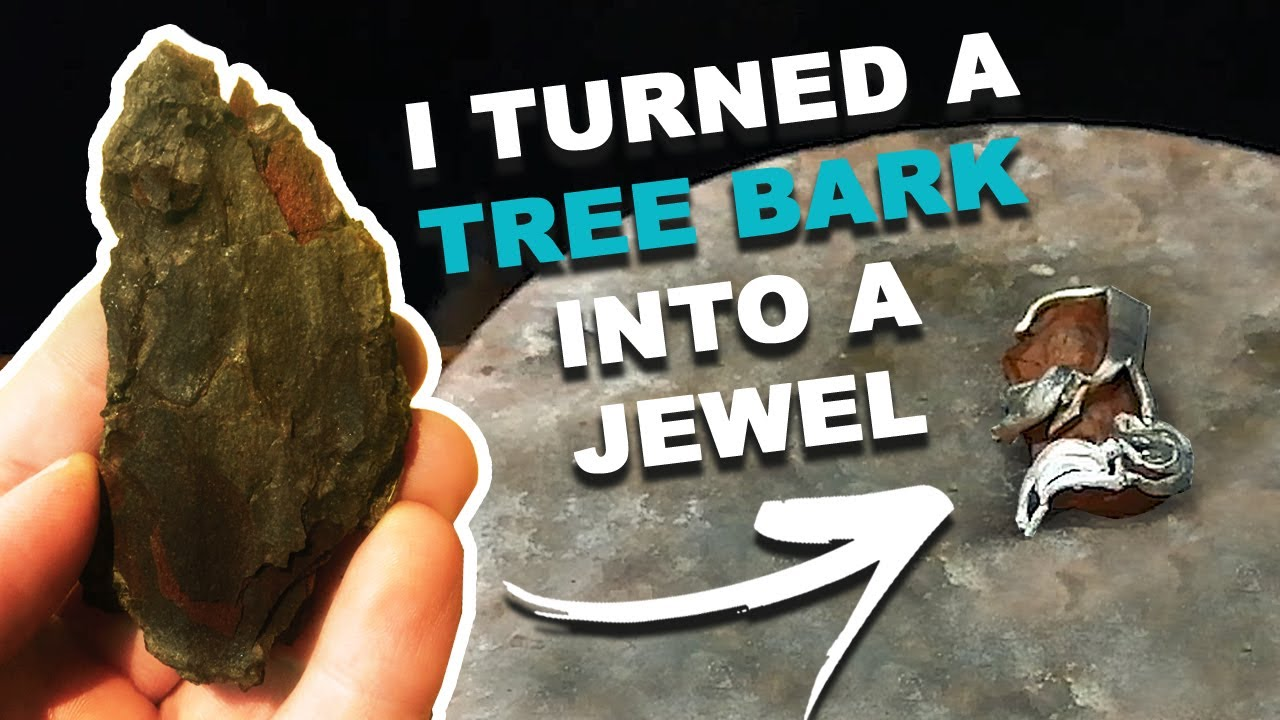 Jewelery Design - I created a jewelry with a tree bark as a starting point | Handmade Jewelry
