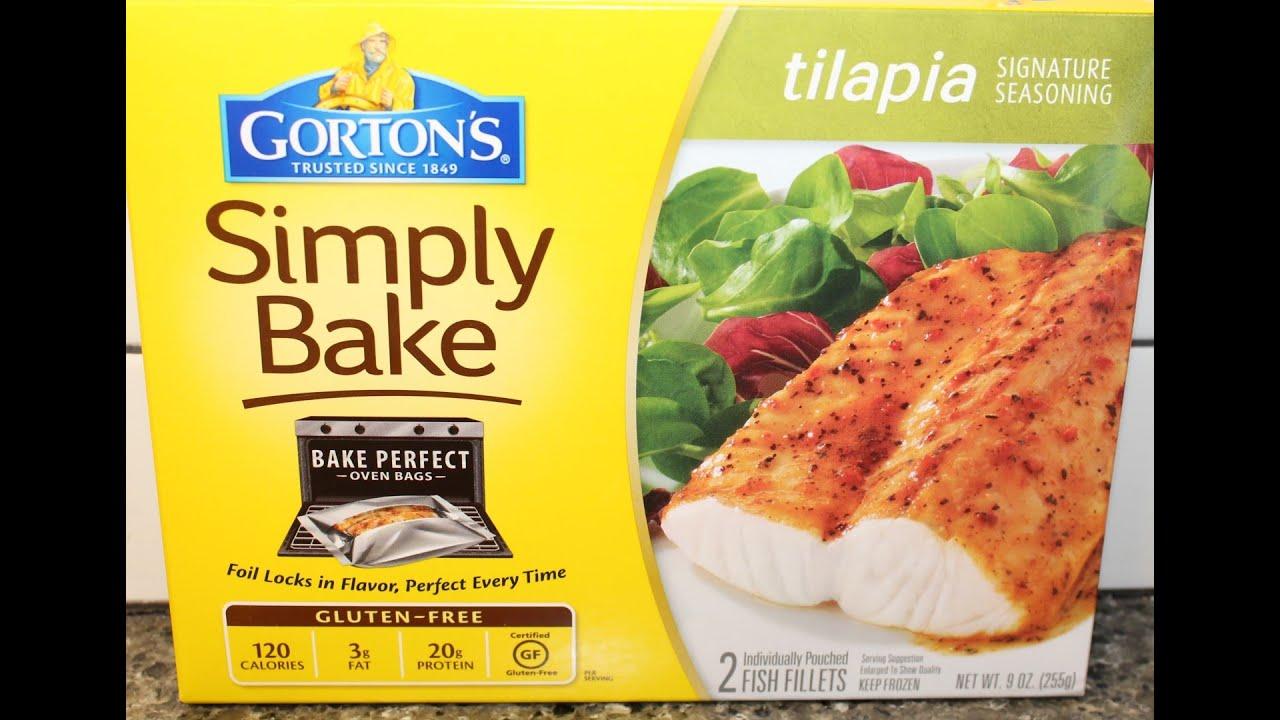 Gorton s simply bake tilapia review youtube for Gorton s frozen fish