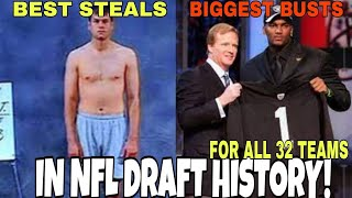 Biggest Draft BUSTS & STEALS In NFL History! 👍BEST & WORST👎 Draft Picks of All Time For All 32 Teams