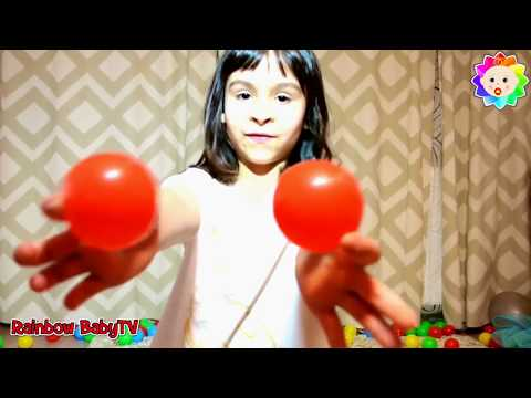 Thumbnail: Learn COLORS For Kids w/ Crying BABY Song Ball Pit - Colors for Children to Learn with Baby Dancing