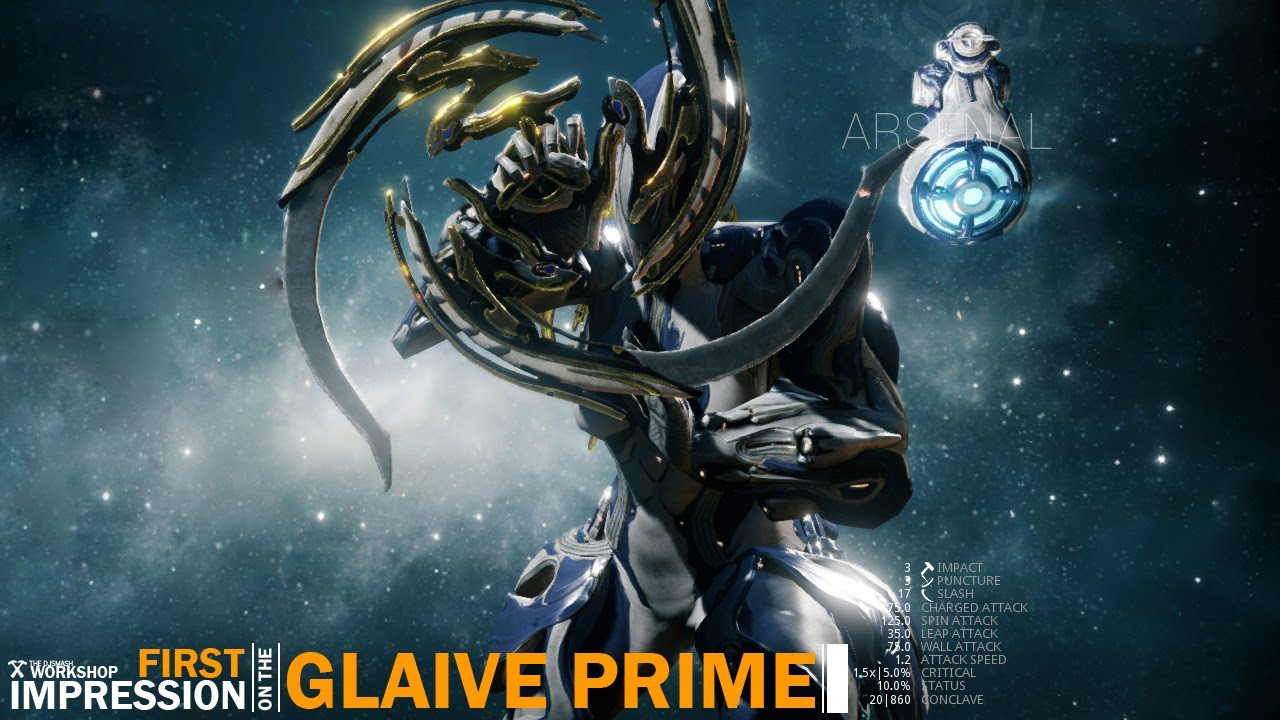 Warframe: First Look at the Glaive Prime - YouTube