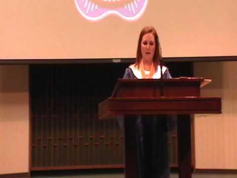 Delaney Miller Salutatorian Speech Wichita Christian School Graduation