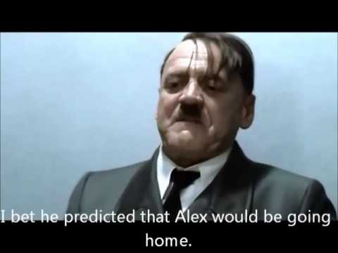 Hitler is informed Alex Preston was eliminated from American Idol