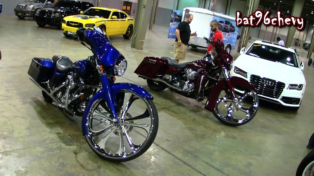 candy blue u0026 red harley davidson baggers duo w 30