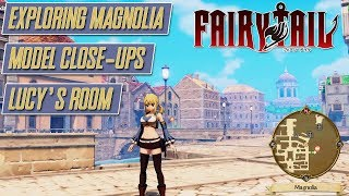 Fairy Tail - Exploring Town, Character Model Close-up