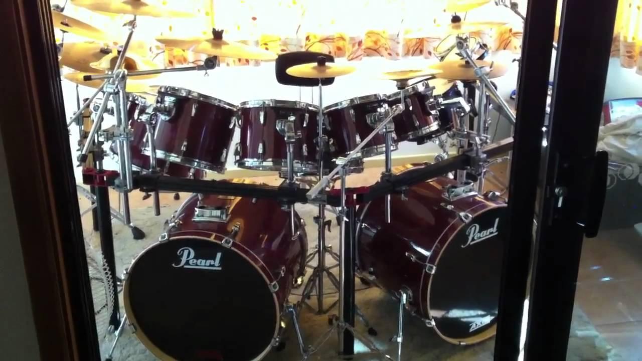 My Pearl Export ELX Doublebass Drumkit