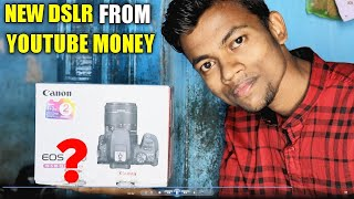 My New DSLR From YouTube Money    Canon 200D unboxing & review