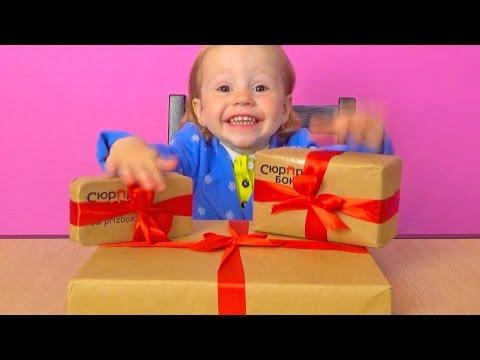 Открываем СюрпризБокс. Распаковка Обзор посылок. МЕГА крутые подарки игрушки Surprizbox unboxing