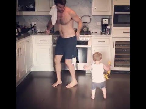 JAMES WOLK SHIRTLESS DANCING BABY
