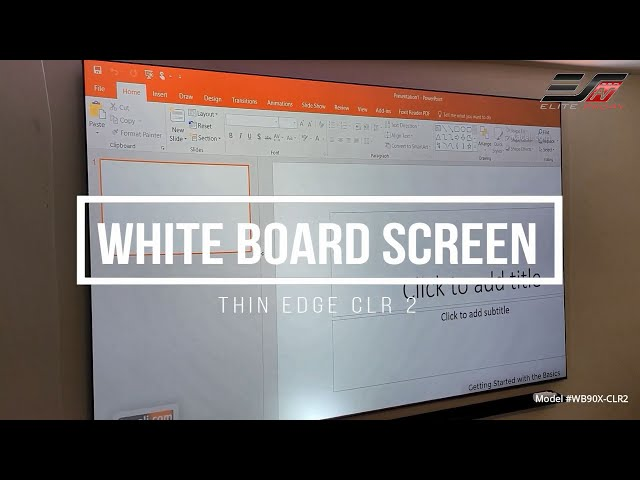 Joelster Reviews the WhiteBoardScreen Thin Edge CLR® 2 | Ambient Light Rejecting Whiteboard Screen