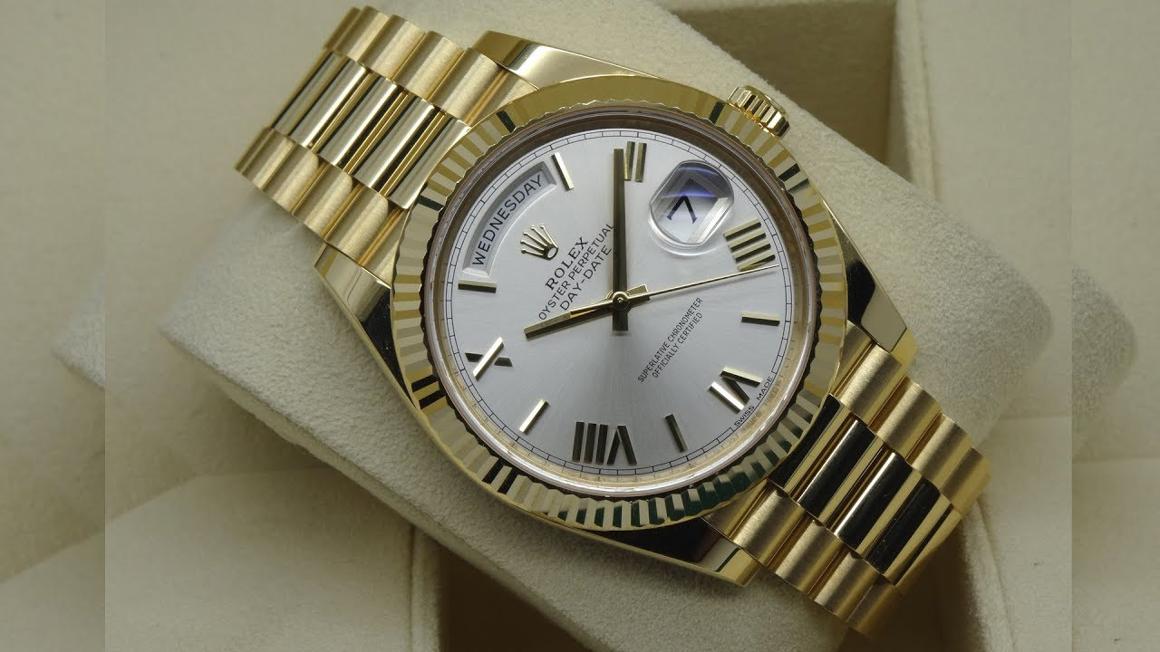 Golden 40 The Beauty Of Rolex Day-date 228238 Silver Dial 40 Mm