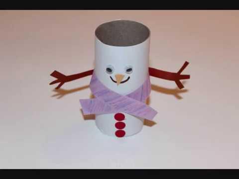 איש שלג מגליל נייר