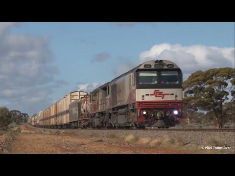 Massive Superfreighters on the Trans-Australian Railway
