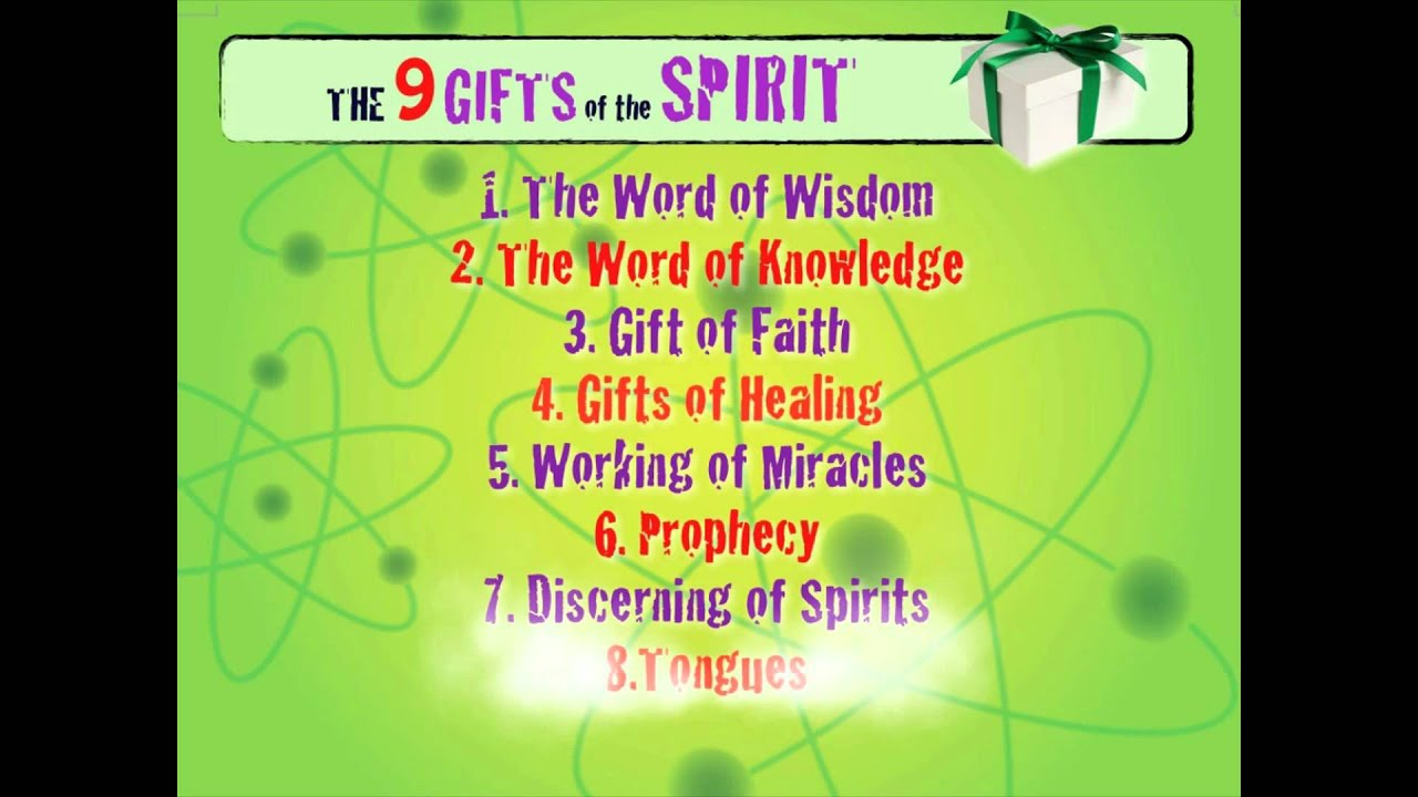 9 gifts of the spirit video youtube negle Image collections