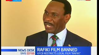 KFCB restrics a local film titled Rafiki, produced by Awali entertainment