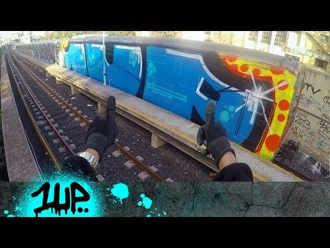 1UP  GRAFFITI OLYMPICS TRAILER TRAINING IN ATHENS