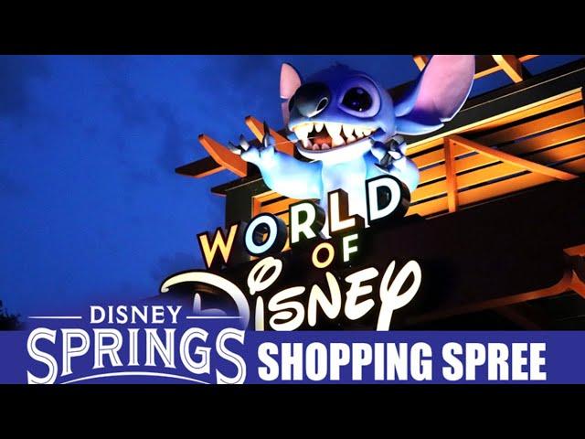 LIVE: Disney Springs Shopping Spree - Walt Disney World Merchandise
