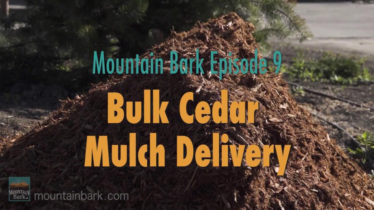 GIANT TRUCK DELIVERS BULK CEDAR MULCH (Mountain Bark Episode 9)