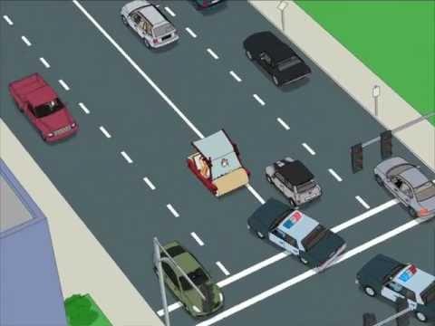 Family Guy Flintstones car chase John Burnell