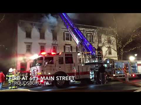 Fire on Main Street, Stroudsburg, PA
