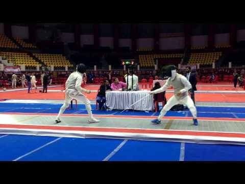 Vinoth (SSCB) vs Bicky (SSCB) Raipur, Chattisghar, India, 27th Senior National  Men's Foil Final R-2