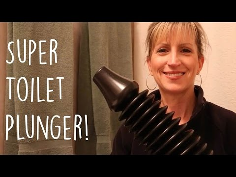 toilet plunger that works bellows style easy to use youtube. Black Bedroom Furniture Sets. Home Design Ideas