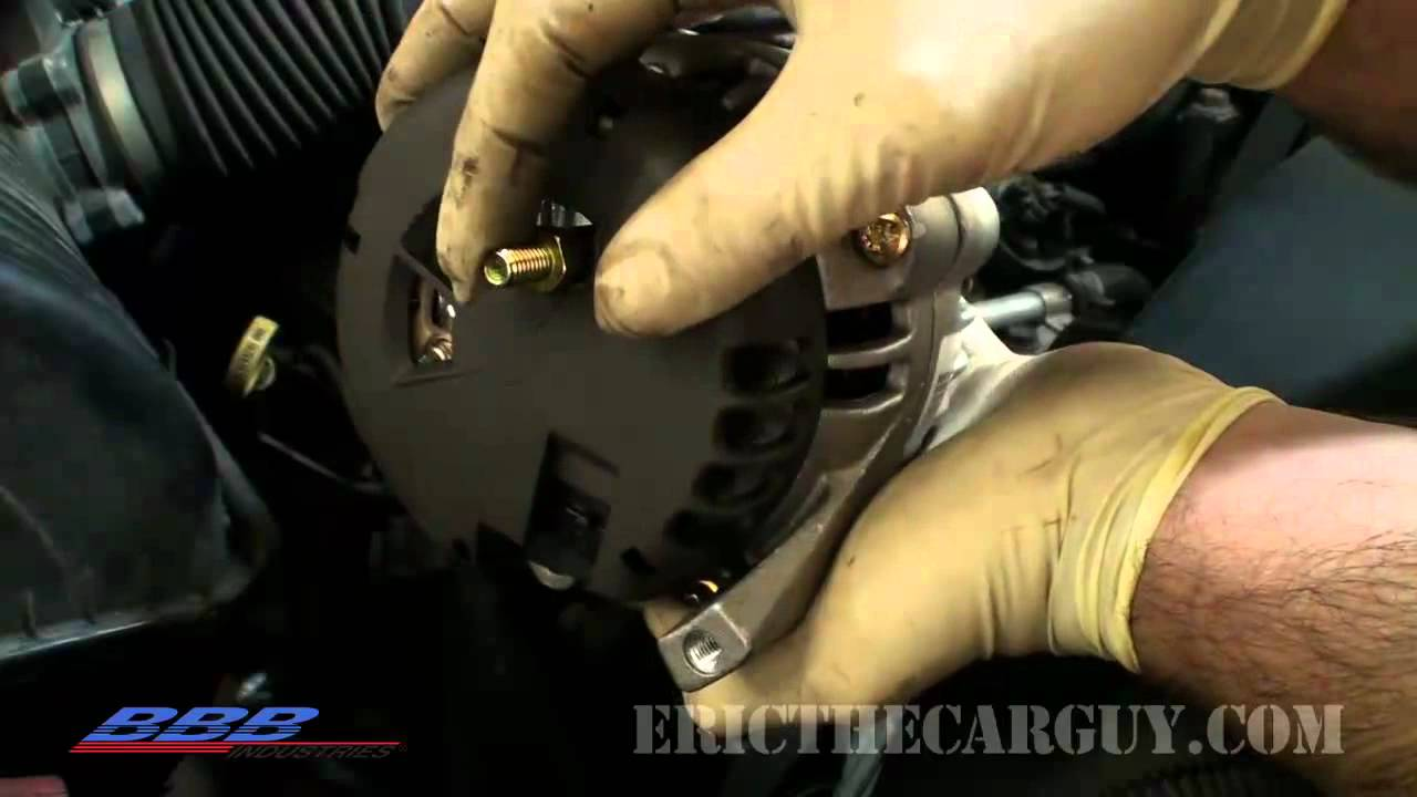 how to change remove replace an alternator [ 1280 x 720 Pixel ]